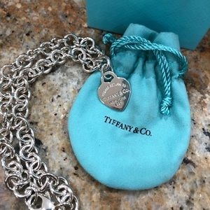 Tiffany & Co. Chain Link Heart Pendant Necklace ❤️